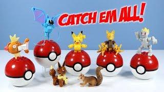MEGA Construx Pokemon Series 1 Abra Eevee Machop Magikarp Pikachu & Zubat Collection Review