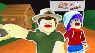 LET'S PLAY ESCAPE SPOOKY CAMP ROBLOX OBBY   RADIOJH GAMES