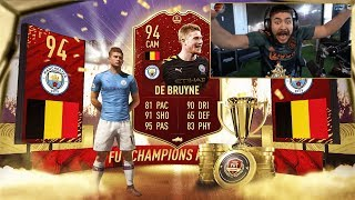OMG MY BEST REWARDS EVER!! RED KDB PACKED!! FIFA 20