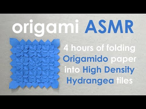 Origami ASMR (no talking): High Density Hydrangea Tiles by Shuzo Fujimoto and Peter Budai