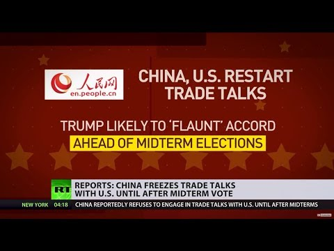 China doesn't want further negotiations with US before midterm elections