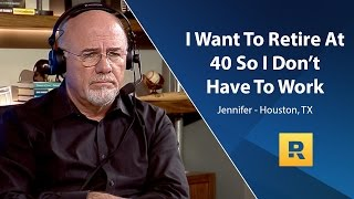 I Want To Retire At 40 So I Don