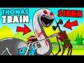 THOMAS THE TRAIN.EXE VS SIREN HEAD! (Horror Cartoon Animation)