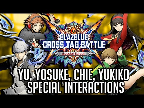 BlazBlue: Cross Tag Battle - All Persona Character Interactions (English Dub)