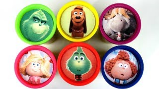 Dr. Seuss THE GRINCH Play-doh Lids Surprises with Max the Dog & Cindy Lou Toys