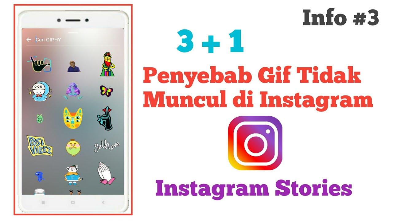 Penyebab gif tidak muncul di instagram instagram stories info 3