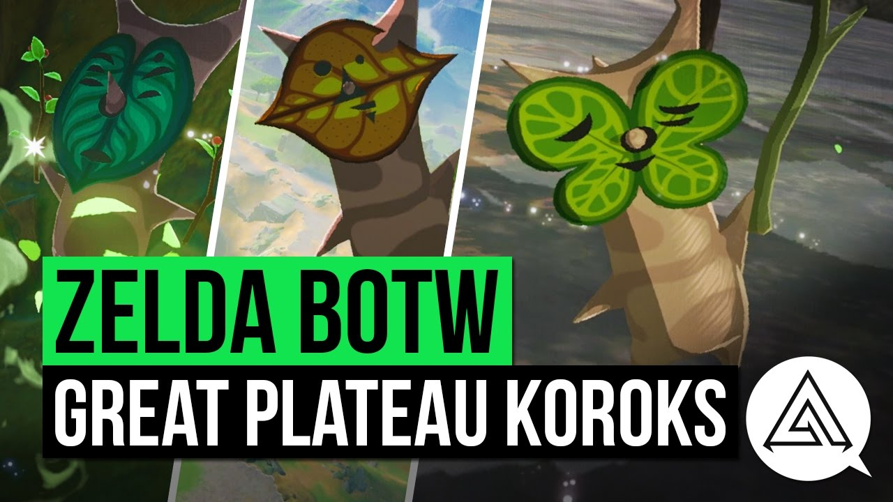 Zelda Breath Of The Wild All Korok Seeds Guide Great Plateau Region Youtube