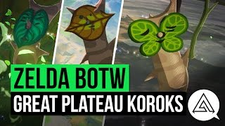 Zelda Breath of the Wild | All Korok Seeds Guide - Great Plateau Region