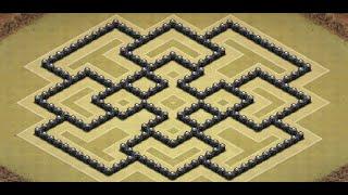 Clash of Clans | Best TH8 | Hybrid Base | 4 Mortars | Skeleton Traps | 2 Dark Elixir Drills