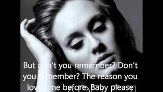dont you remember   adele lyrics video