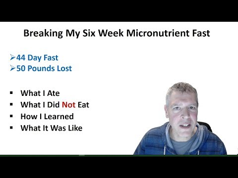 Breaking My Six Week (44 Day) Micronutrient Fast - Avoiding Hypophosphataemia