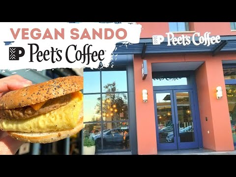 Vegan Breakfast Sandwich at Peet's Coffee—SO GOOD!