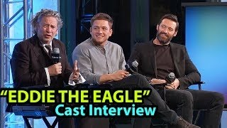Hugh Jackman, Taron Egerton & D. Fletcher Interview | EDDIE THE EAGLE Movie Cast