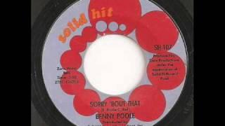 Benny Poole - Sorry