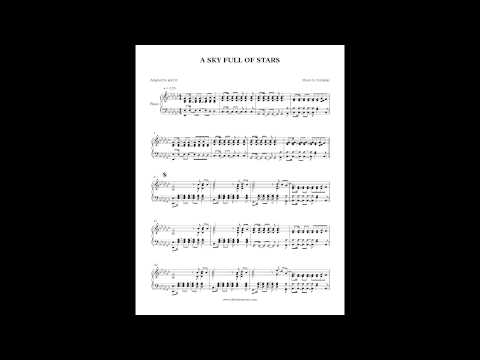 Coldplay - A Sky Full of Stars (Piano Cover + Sheet music) by Aldy