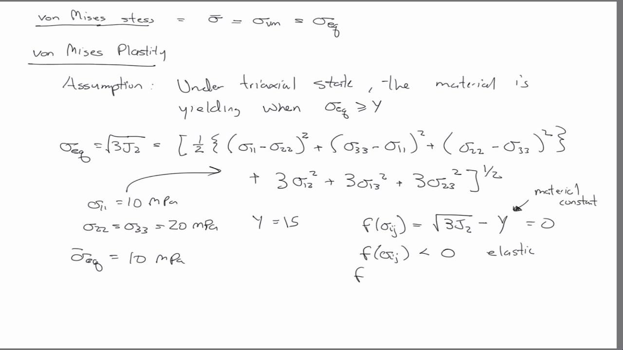 Von Mises Stress Equation Jennarocca