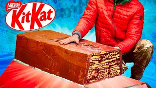 WE PREPARED A HUGE KITKAT WEIGHING 140 KILOGRAMS.