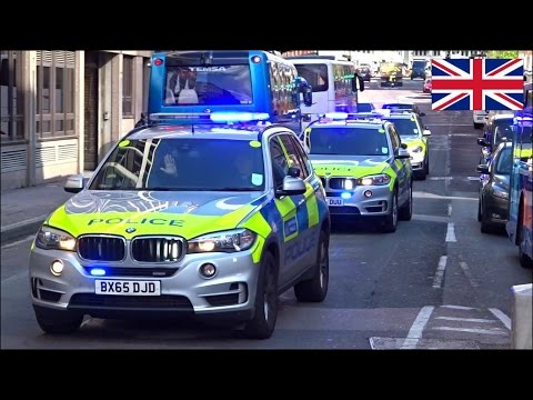 Police car responding convoy x3 - NEW Police BMW X5 Armed Response