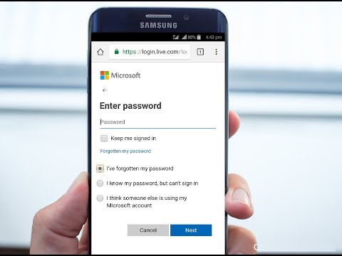 Change/Recover Forgotten Microsoft Account Password In Phone (100% Works) No Email/Number Needed