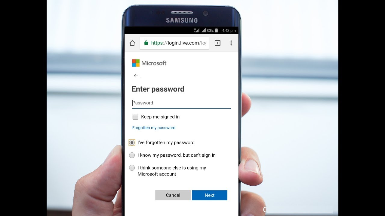 how to find microsoft account username and password