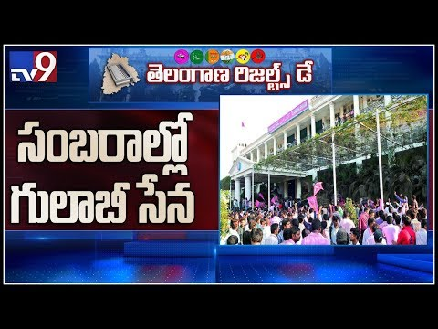 TRS cadre celebrations at Telangana Bhavan - TV9