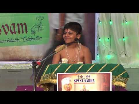 Introduction to Upanyasam by Chi.Avyuth from Chennai .at Desikotsavam