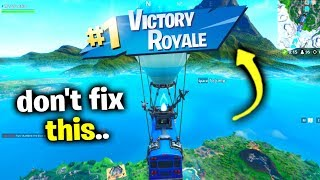 Please Don't BAN This Glitch.. (Fortnite Season X)