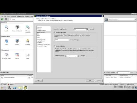 VMware ESXi & vSphere 5.1 Admininstration Training : vCenter Server Settings