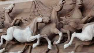 The Most Incredible Piece Of Horse Woodcarving I Have Ever Seen At Vanderwiel Harnessmakers!