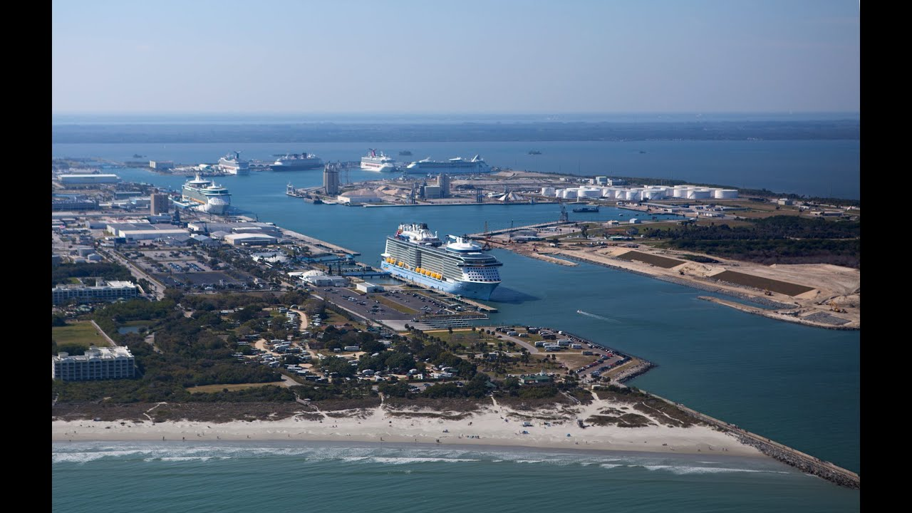 Six Cruise Ships In Port Canaveral At Same Time YouTube - Cruise ships port canaveral