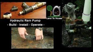 Repeat youtube video Hydraulic Ram Pump: Build-Install-Operate