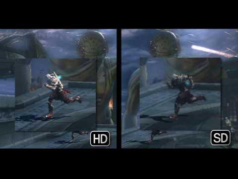 God Of War2 SD Vs HD H264
