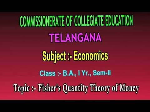 T-SAT || CCE || Economics - Fisher's Quantity Theory Of Money || LIVE With T Bhaskar Reddy