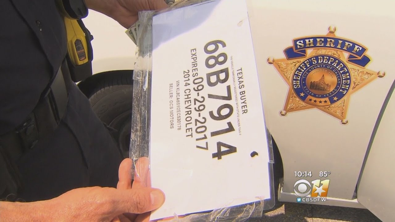 Task Force Busting Fake License Plates Forced To Shut Down Youtube