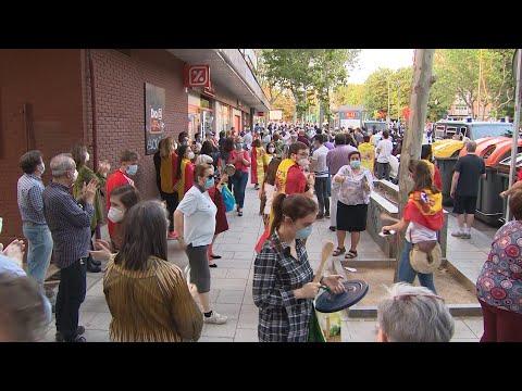 A presenza policial evita enfrontamentos en Moratalaz