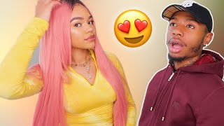 MY BOYFRIEND REACTS TO MY NEW HAIR!!