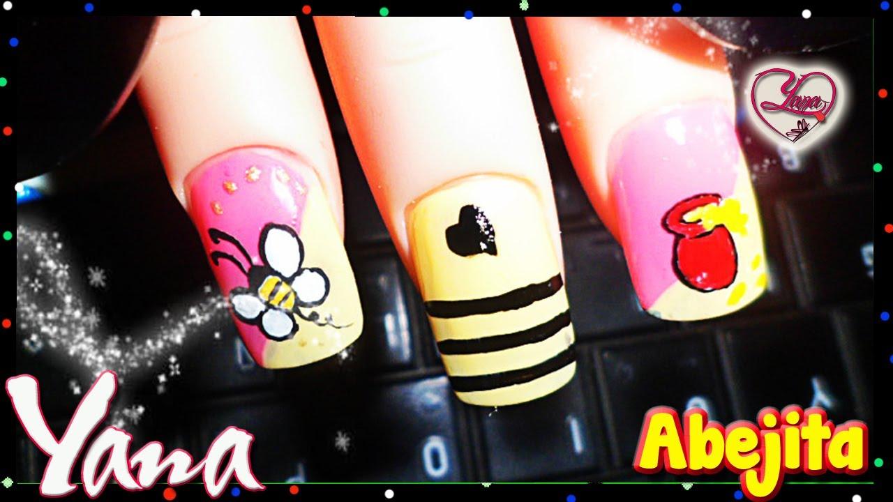 Abejita decorado de u as yana nail art youtube - Decorados de unas ...