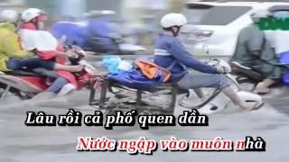 Karaoke Sài Gòn mưa quá( Lời nhạc chế copy trên mạng) Beat bé Triệu Vy
