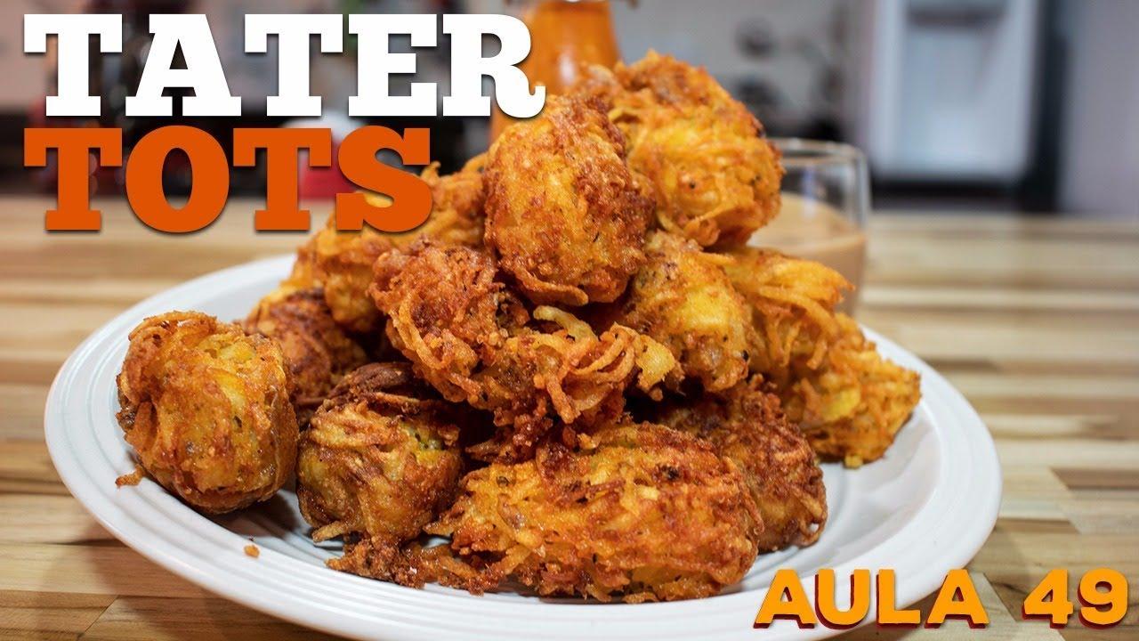 Tater Tots (Como fazer bolinho frito de batata com queijo) / Cansei de Ser Chef