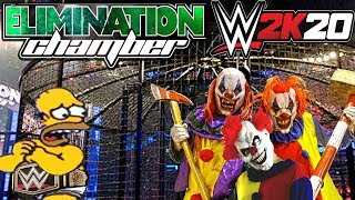 Homero Simpson VS Los Payasos Asesinos - WWE Chamber Elimination 2017