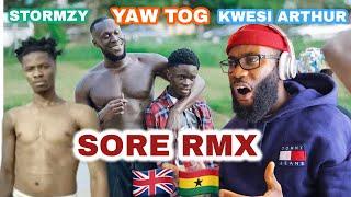 Download Yaw Tog, Stormzy & Kwesi Arthur - SORE  (Remix) *FREEZY REACTION*