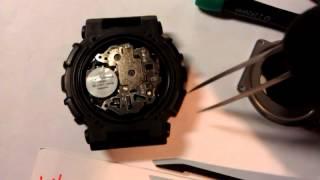 Заміна батарейки на Casio G-Shock GA-100, replacement battery on Casio G-Shock GA-100