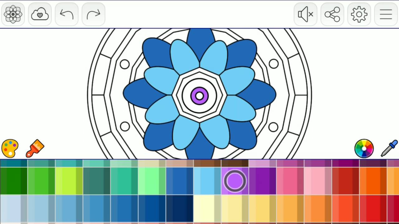 mandalas coloring pages android app youtube