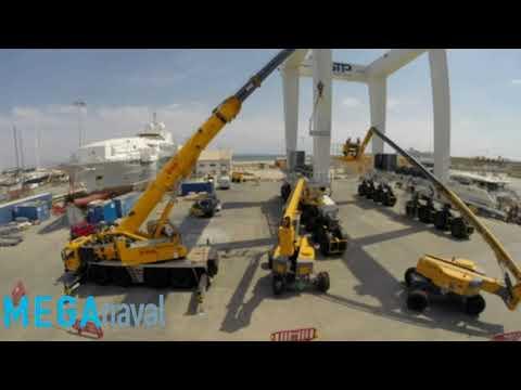 Montaje Travel Lift 1000 tn Mega naval y Cimolai