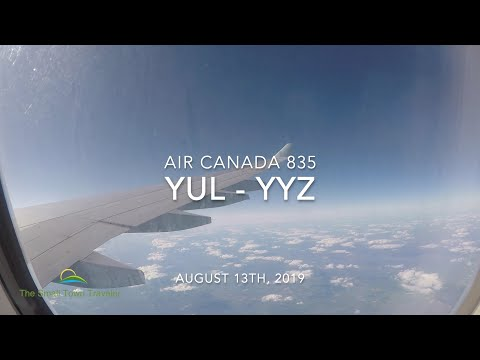 Air Canada 835 | Montreal (YUL) - Toronto (YYZ) | Trip Report 2019