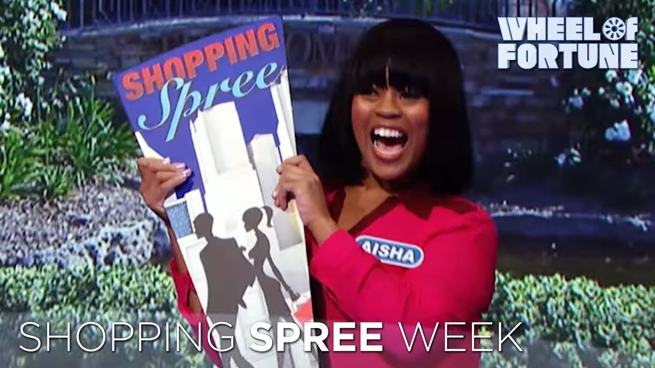 wheel of fortune shopping spree week