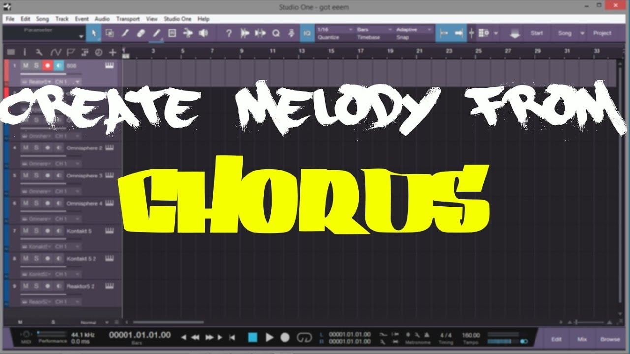 How to Make Melody from Chords | Presonus Studio One | Make Beats Fast