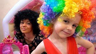 Ева и мама Играют в Салон КРАСОТЫ  Pretend play beauty salon  Princess Makeup