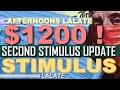 FINALLY? SECOND STIMULUS CHECK   SSI & SSDI SS SSA Veterans !   Second Stimulus Package GOOD NEWS!