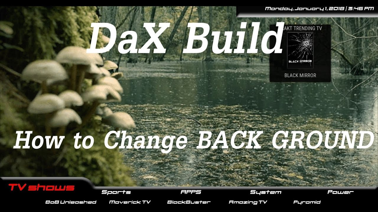 DaX Build How To Change BackGround Aeon Nox Silvo